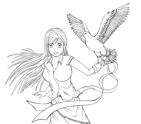 Inoue Orihime From Anime Bleach Coloring Page Free Printable Coloring Pages Coloring Pages Bleach Anime Bleach Anime