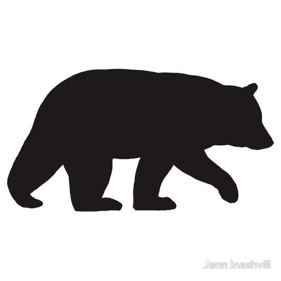 Black Bear Silhouette S Sticker By Jenn Inashvili In 2021 Bear Sketch Bear Silhouette Black Bears Art