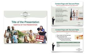 Realtor Realty Agency PowerPoint Presentation Template Real - Powerpoint brochure templates