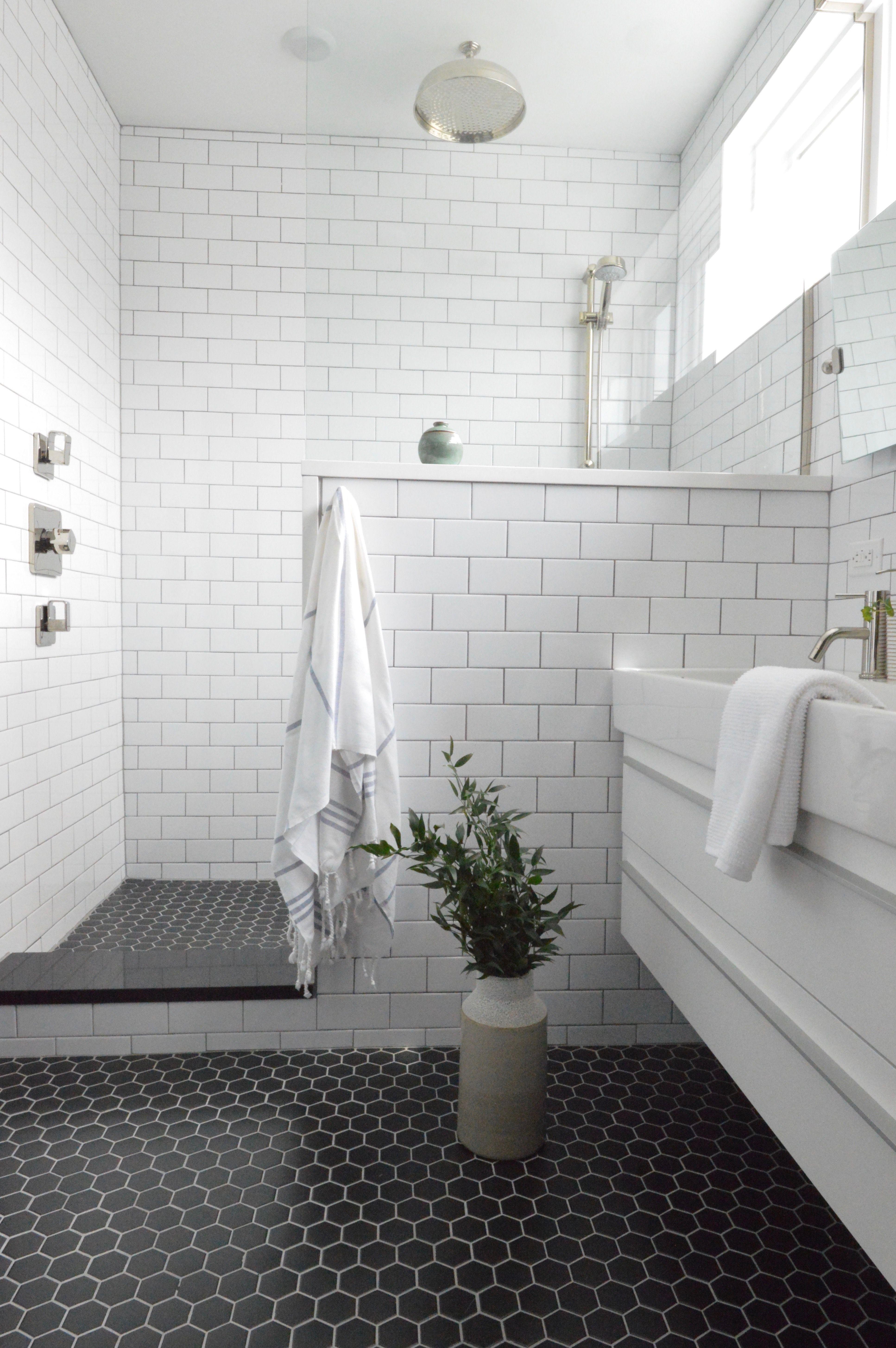 Hoboken Townhouse Master Bathroom By Camden Grace Interiors Www Camden Grace Com Modern With White Subway Til Attic Bathroom Bathroom Flooring Small Bathroom