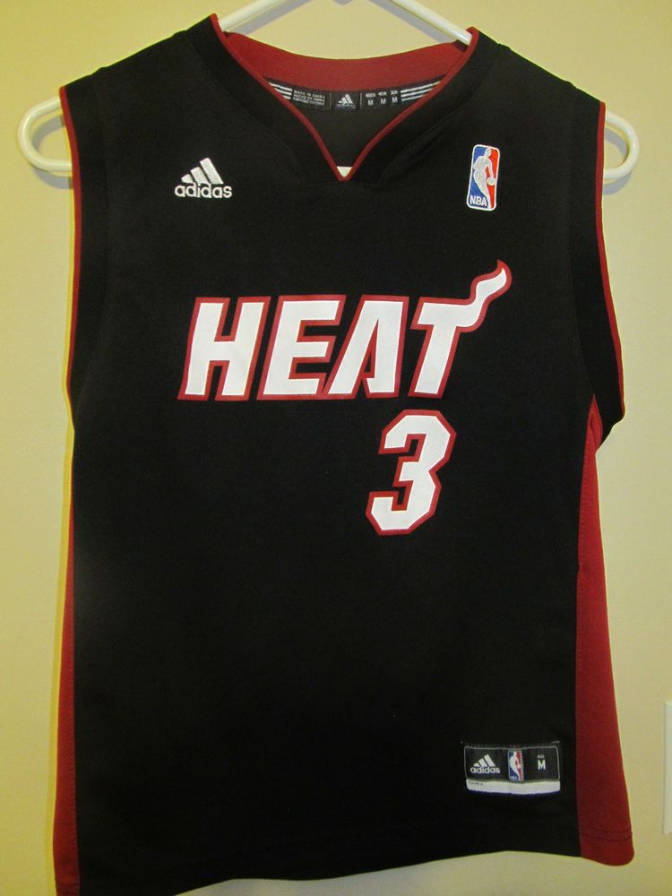 the latest 7d458 9c9b9 Dwyane Wade , Miami Heat jersey , Adidas youth Medium ...
