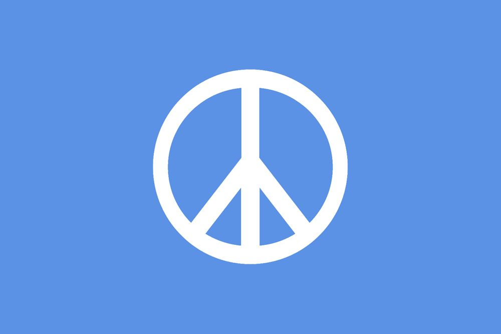 Symbolic Flag Of Peace By Julius C Courtesy Wikimedia Commons Peace Peace Logo Peace Symbol
