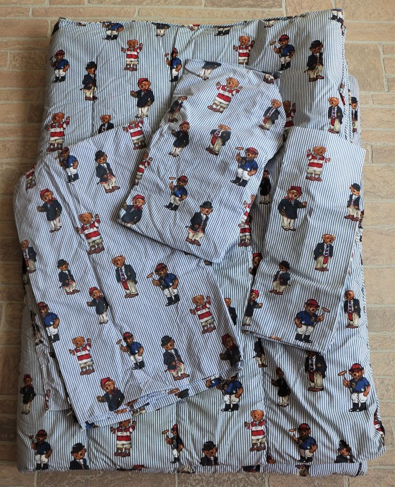 Ralph Fitted Lauren Polo Bears Sheets 4pc Comforter Vintage Twin CxBsrdthQ
