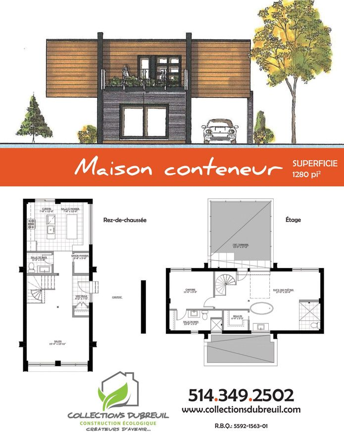 La maison conteneur containers plans pinterest for Plan de maison container
