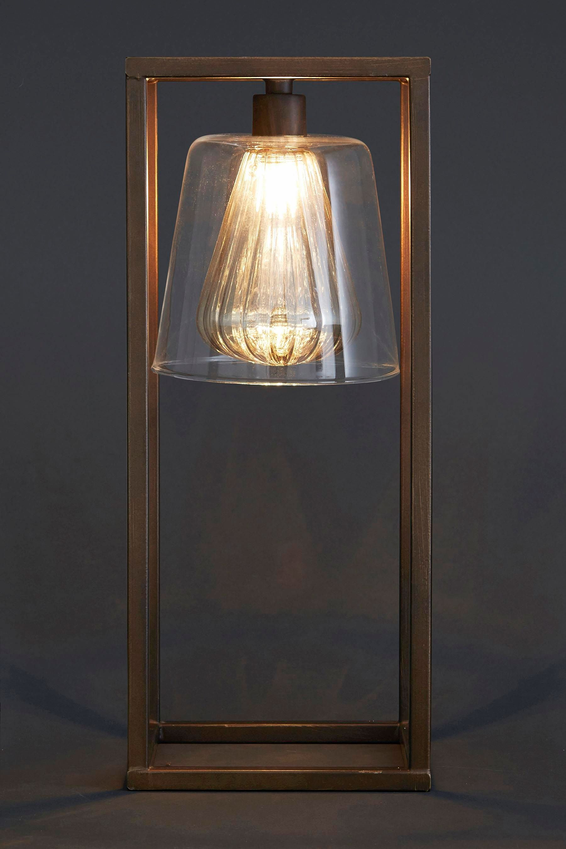 Buy Islington Table Lamp With Double Glass Shade from the