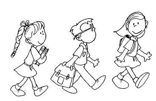 Niños Yendo A La Escuela 2gif4 Diseños
