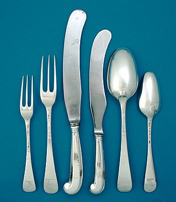 Early British Table Silver, Hanoverian Cutlery Setting (Although ...