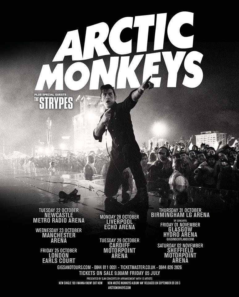 oh yeah arctic monkeys uk tour 2013