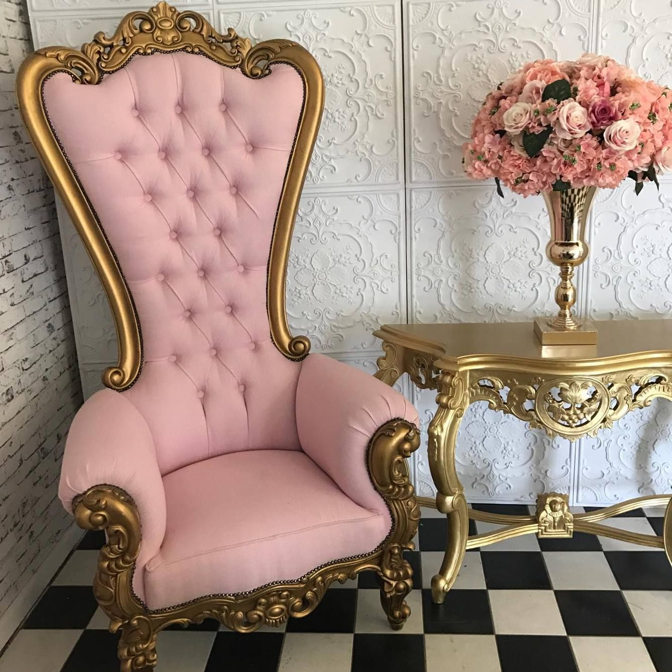 Princess Gold Pink Throne Ideas For The House In 2019