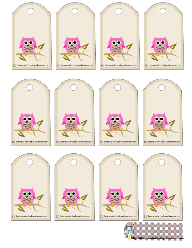 Free owl printables free owl themed favor tags for girl baby free owl printables free owl themed favor tags for girl baby shower negle Images