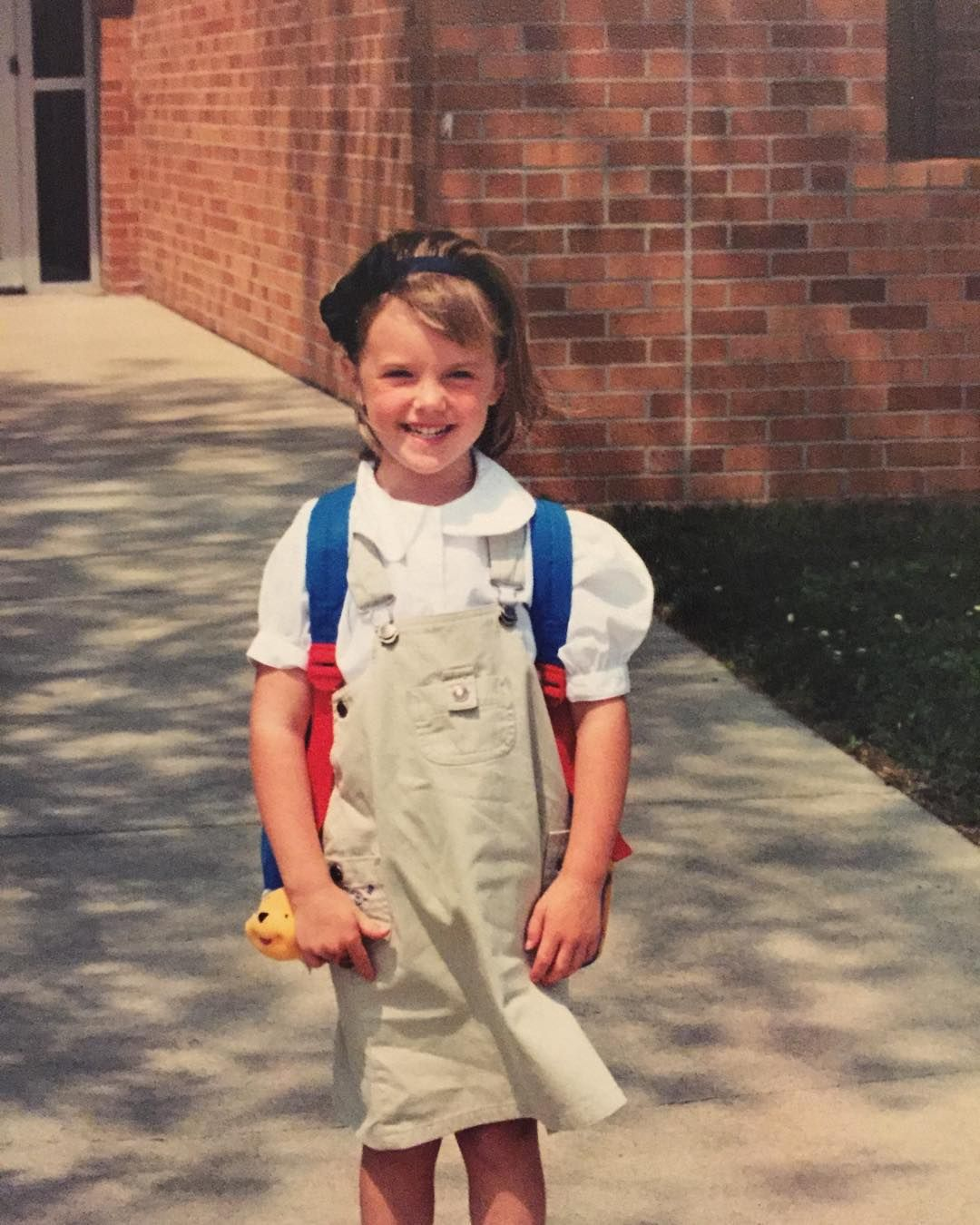 In honor of my first day back to school and officially being in college for an entire year here is a photo of me on my first day of Kindergarten. No I didn't go to a school that made you wear uniforms...I just thought they were the coolest thing EVER so I wore them like they were going out of style (were they ever actually in style?!) I was probably the only child who wanted to wear those things and was bummed that it wasn't a requirement at my elementary  #weirdkidproblems #oddball…