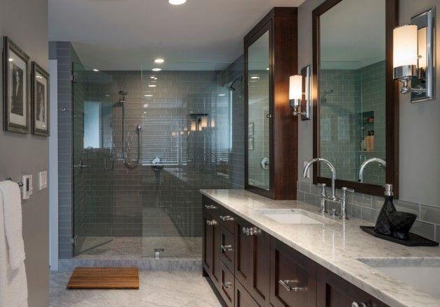 extraordinary bathroom design tile showers ideas | 15 Extraordinary Transitional Bathroom Designs For Any ...