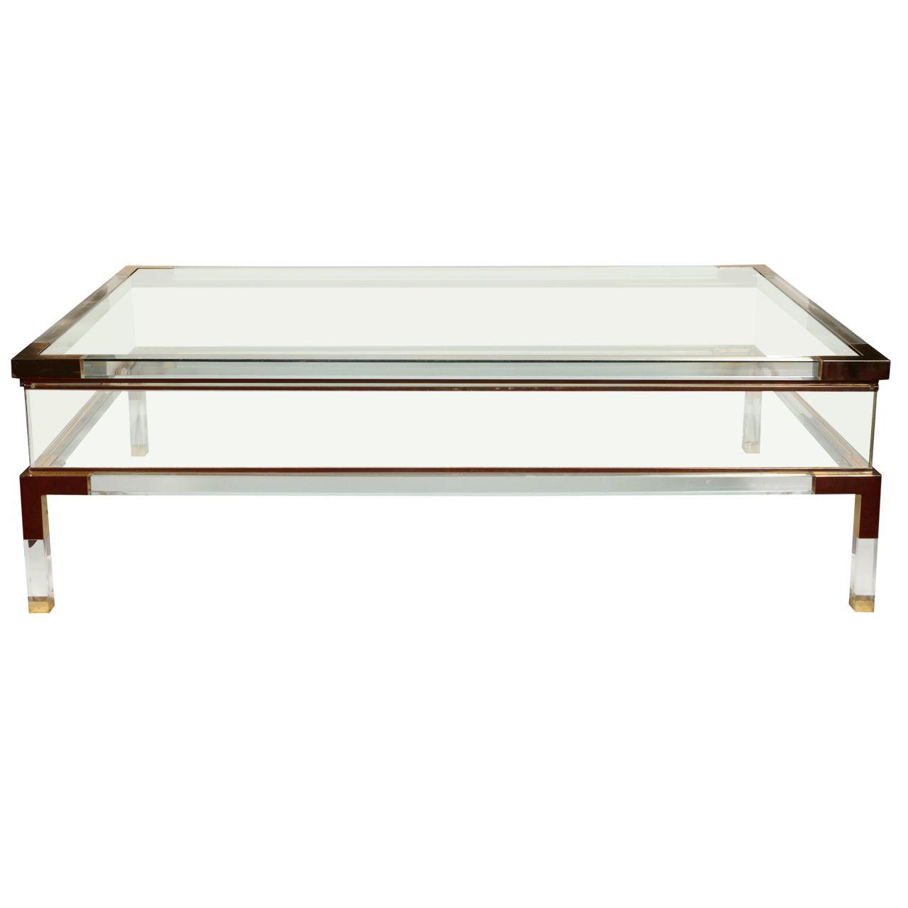 1980s Plexiglass Showcase Coffee Table