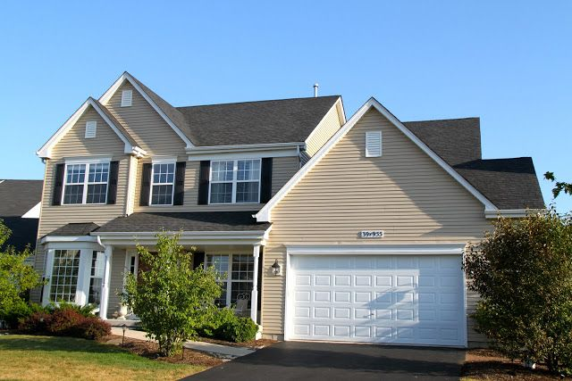 Housewifery Outside House Tour Beige House Exterior Tan House Exterior Paint Colors For House