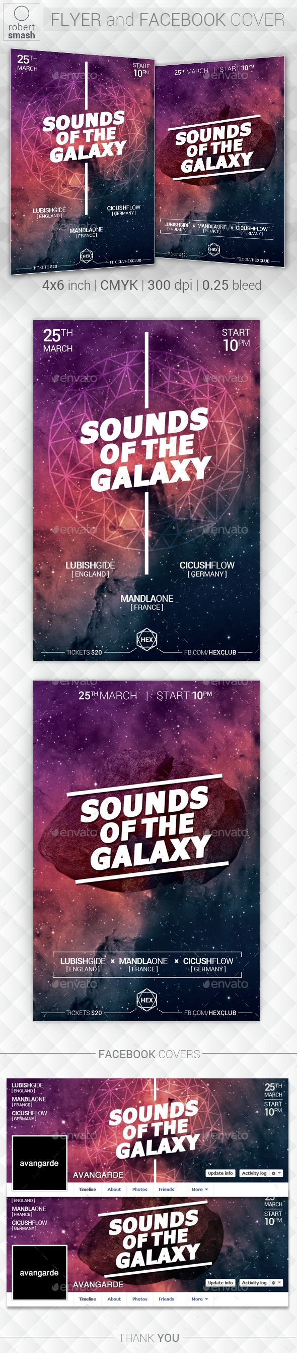 Galaxy Music Flyer  Music Flyer Flyer Template And Graphics