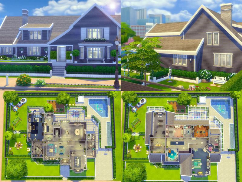 Greywell Cottage Is A Family Home Built On A 50 X 40 Lot Found In Tsr Category Sims 4 Residential Lots Sims 4 House Design Sims 4 House Plans Sims Building