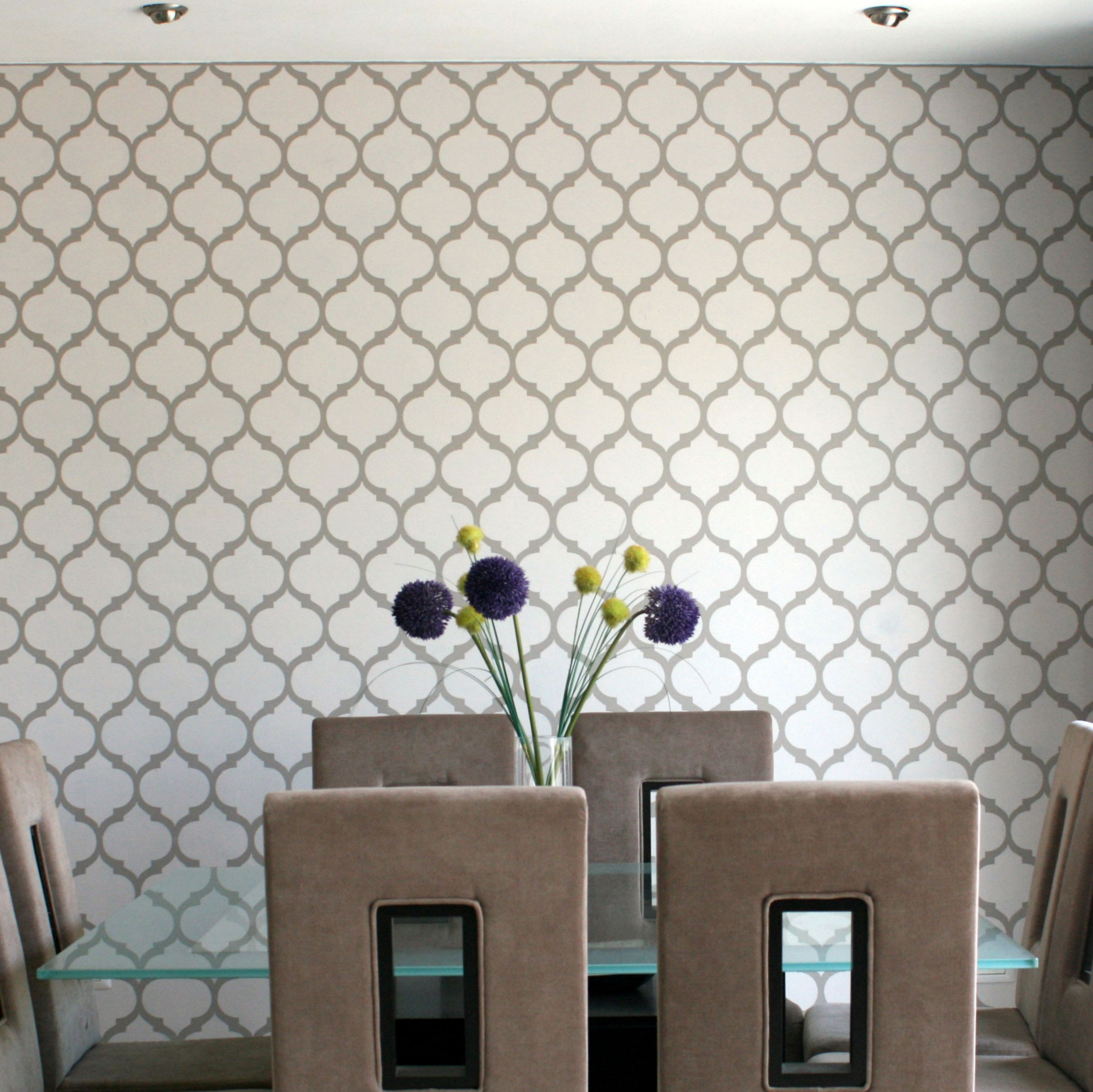 Plantilla decorativa para el dise o de interiores pinta y - Plantillas para paredes ...