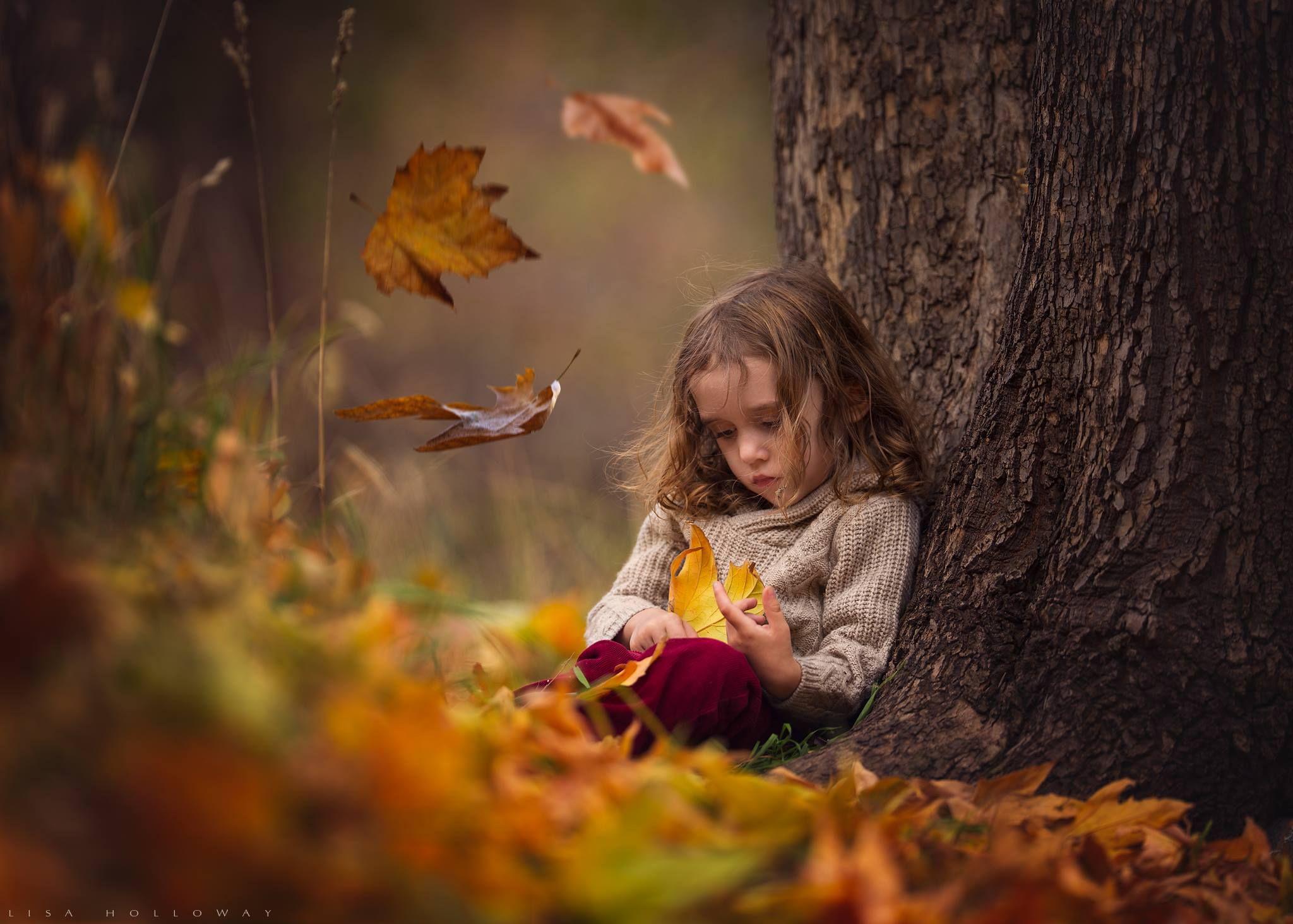 Картинки дети на природе осенью, доброе воскресное утро