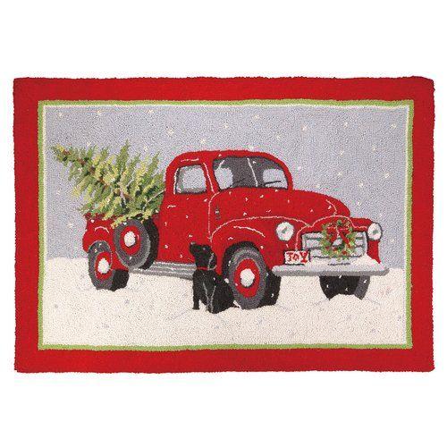 Found It At Wayfair Christmas Truck Hook Area Rug Christmas Rugs Christmas Truck Red Truck