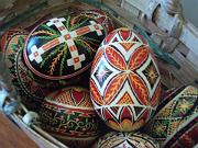 Ukrainian eggs at Bywater bouitque, Bon Castor. #NewOrleansTidbits