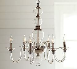 Crystal & Wrought Iron Chandeliers | Pottery Barn