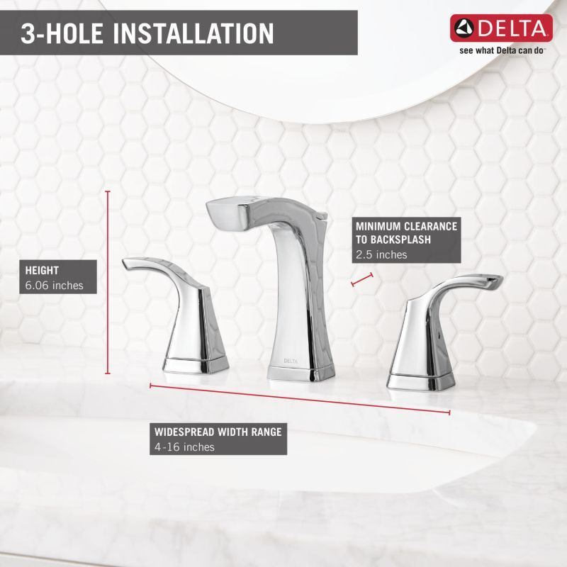 Delta 3552-MPU-DST   Delta faucets, Widespread bathroom ...