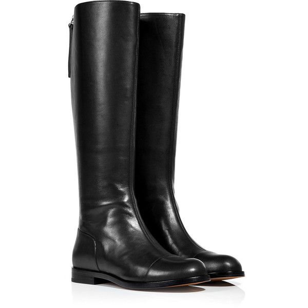Marc by Marc Jacobs - Leather Tall Boots ($298) ❤ liked on Polyvore