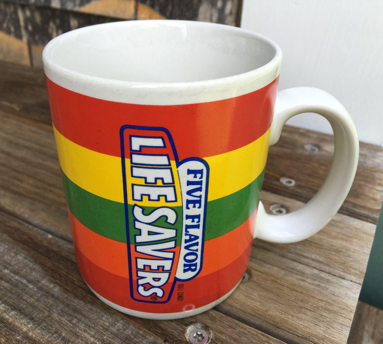 Vintage Lifesaver 5 Flavor Candy Mug Telefora Gift Mug Nabisco