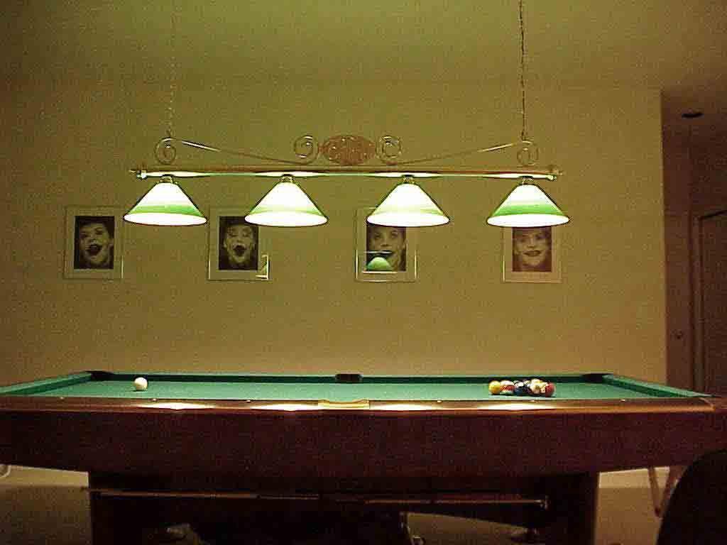 Interesting Pool Table Light Fixture