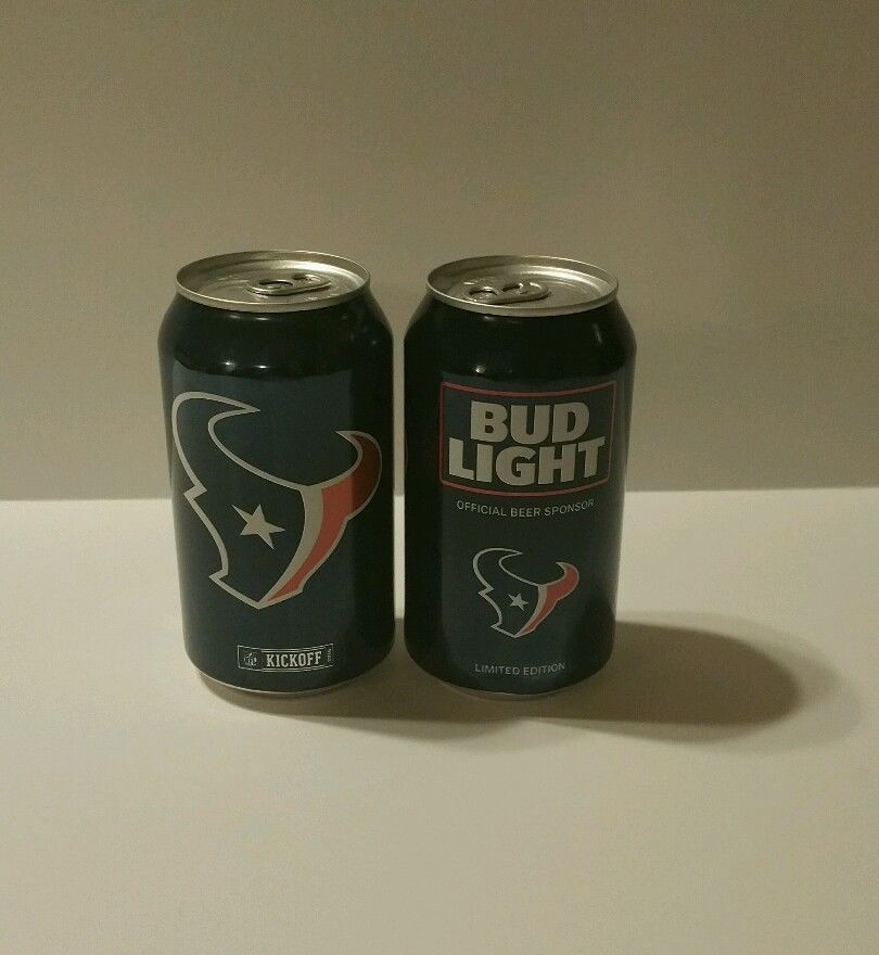 Details About Houston Texans Bud Light 12 Oz Beer Can Limited Edition Nfl 2016 Blue Empty Bud Light Beer Beer Can Bud Light