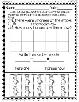 subtraction word problems for kindergarten tpt math lessons subtraction kindergarten math. Black Bedroom Furniture Sets. Home Design Ideas
