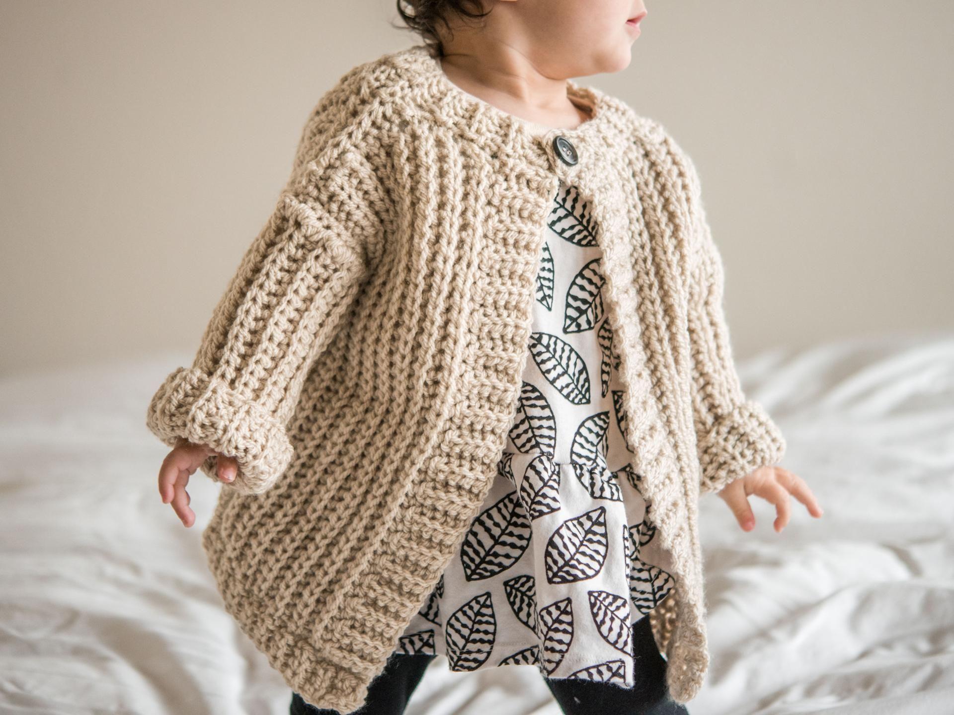 Childs Play Cardigan Crochet Kit Crochet For Baby Kids