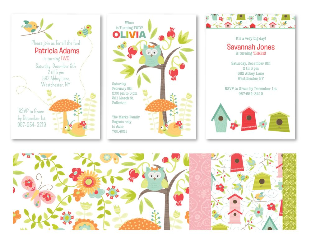 Enchanted garden party invitations Childrens Party Invitations