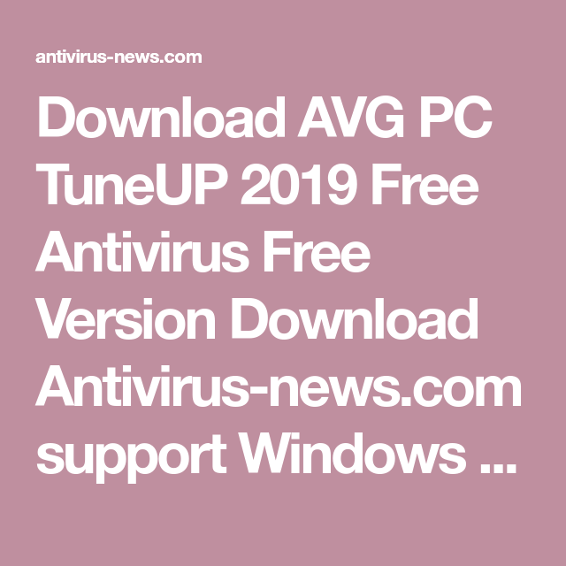 avg antivirus free windows 8