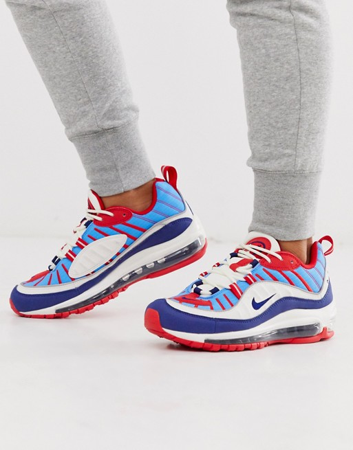 new concept f97fa 015aa Nike red white and blue Air Max 98 trainers | Nike in 2019 ...