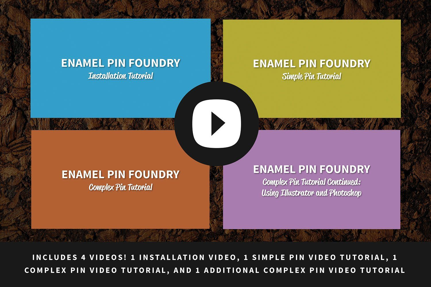 Enamel Pin Foundry Actions, Brushes, Gradients, Layer Styles