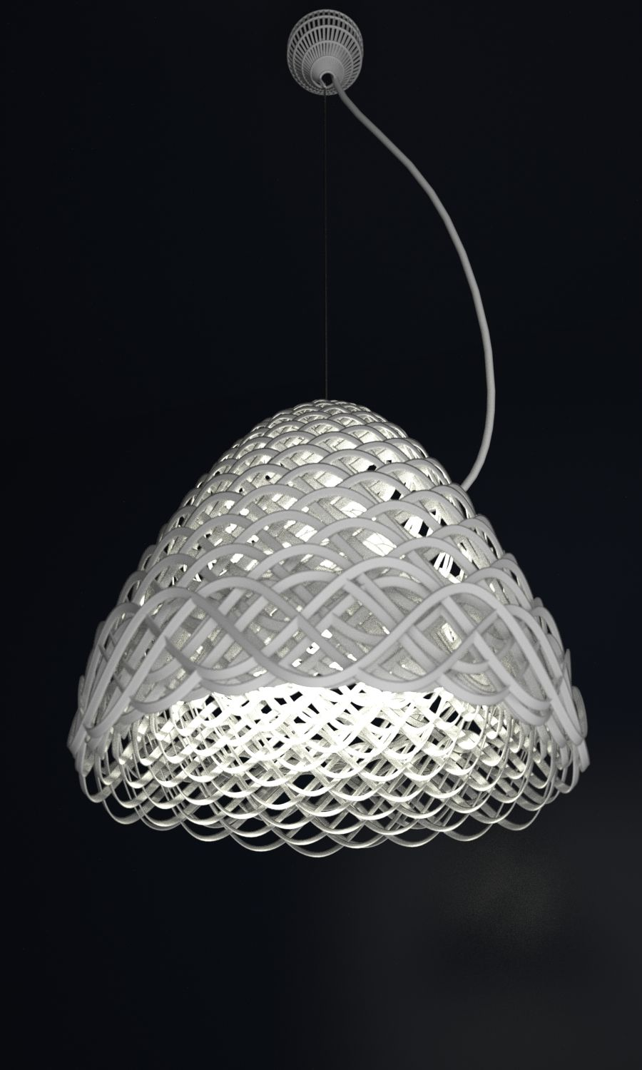 White Pendant Lamp 3d Print Lighting Beleuchtung Luminaires Leds Lustres Iluminacao