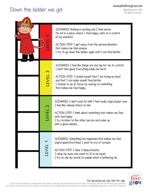 Down the emotional ladder | Therapy Interventions | Pinterest ...