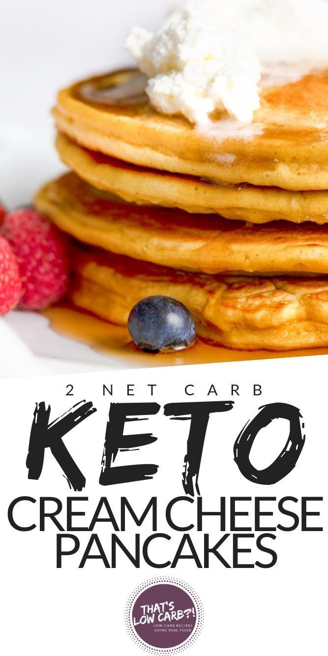 Keto Cream Cheese Pancakes - That's Low Carb!?