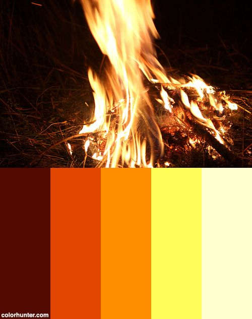 Lagerfeuer Camp Fire Color Scheme Color Palette In 2019