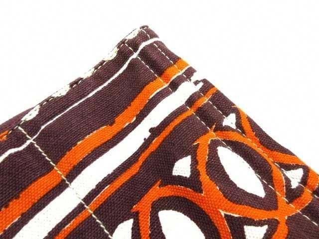77cbf8e27acd Auth PRADA Canapa BN1872 Dark Brown Orange Ivory Canvas Tote Bag  353.0   prada  handbag