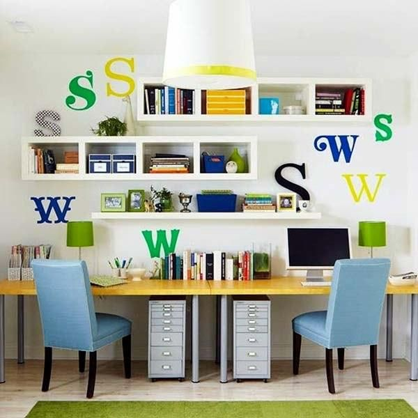 Delightful 15 Small Home Office Designs Saving Energy, Space And Creating Great Work  Areas For Two