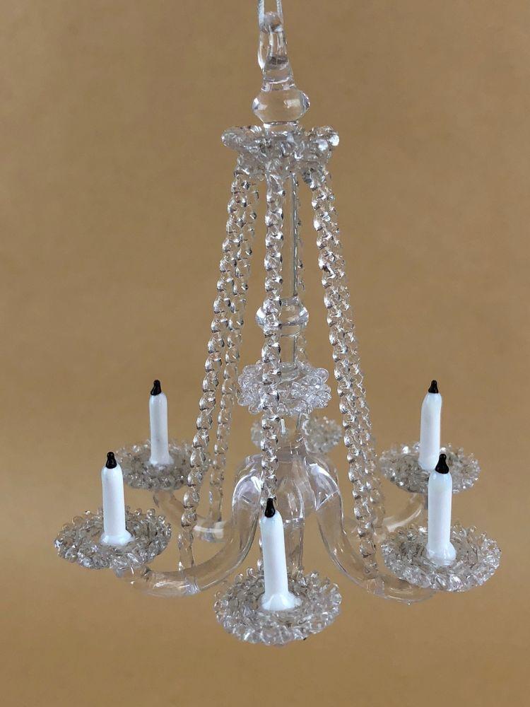 Miniature dollhouse vintage austrian crystal chandelier six crystal miniature dollhouse vintage austrian crystal chandelier six crystal candles lg aloadofball Choice Image