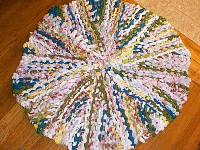 Free Knitting Loom Patterns Round Loom Knit Rug Date 3 23 2011