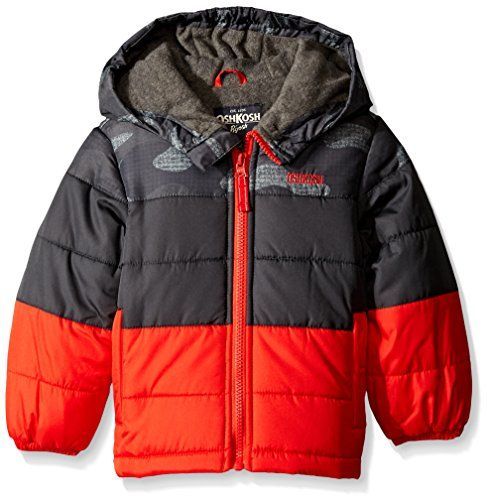 Pacific Trail Boys Puffer Coat with Print Blocking