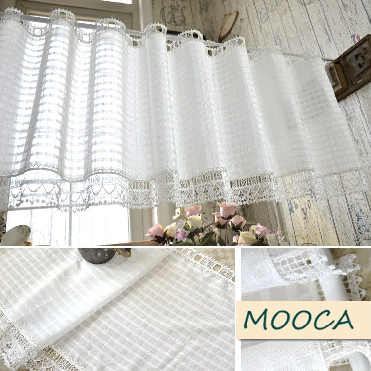 Short Kitchen Curtains Bridge Faucet Cheap White Curtain Buy Quality Directly From China Suppliers With Lace