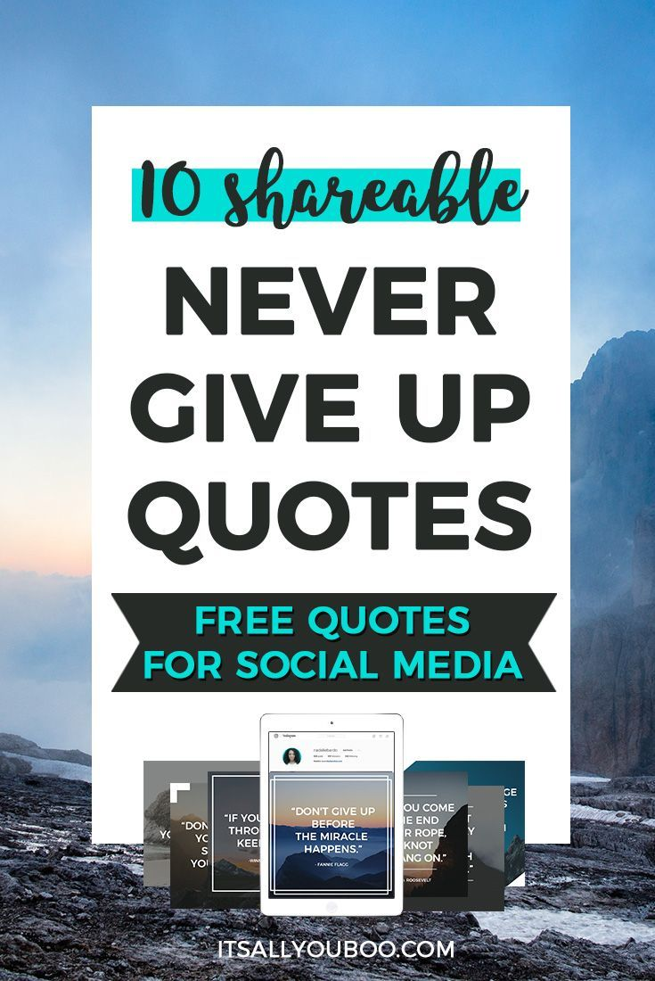 10 Shareable Never Give Up Quotes