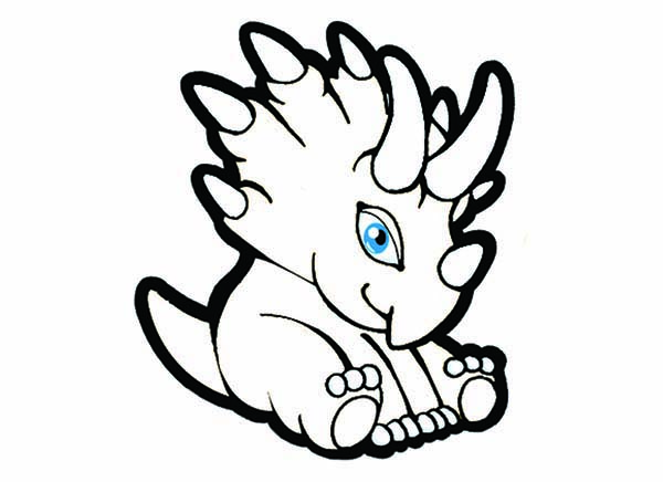 Cute Baby Dinos Sitting Coloring Pages : Bulk Color | Baby ...