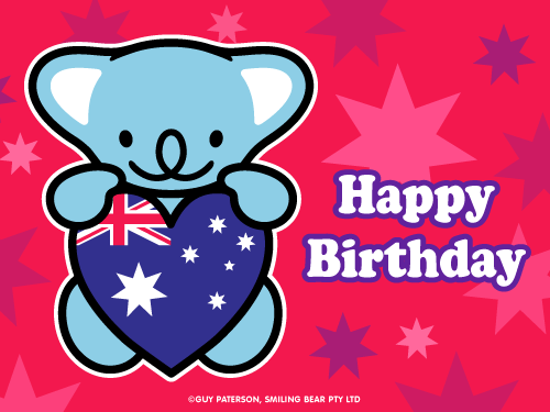 Happy birthday aussie style smiling bear free ecard cute kawaii happy birthday aussie style smiling bear free ecard cute kawaii bookmarktalkfo Choice Image