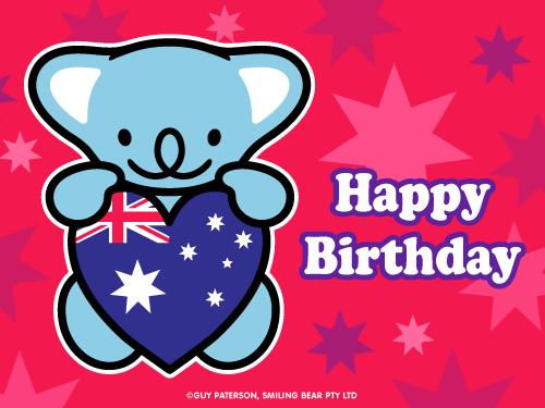Happy Birthday Aussie Style Smiling Bear Free Ecard Cute Kawaii Happy Birthday Birthday Birthday Wishes